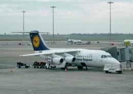 TA27さんが、リヨン・サンテグジュペリ空港で撮影したルフトハンザ・シティライン Avro 146-RJ85の航空フォト(飛行機 写真・画像)