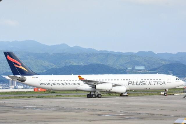 M.Tさんが、関西国際空港で撮影したプルス・ウルトラ A340-313Xの航空フォト(飛行機 写真・画像)