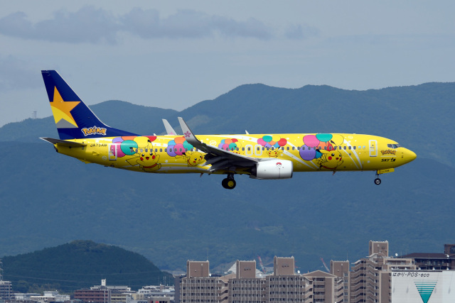 kopさんが、福岡空港で撮影したスカイマーク 737-8ALの航空フォト(飛行機 写真・画像)