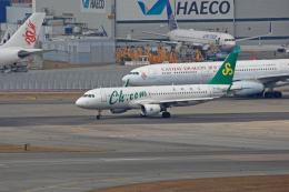 tsubameさんが、香港国際空港で撮影した春秋航空 A320-214の航空フォト(飛行機 写真・画像)