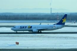 timeさんが、新千歳空港で撮影したスカイマーク 737-81Dの航空フォト(飛行機 写真・画像)