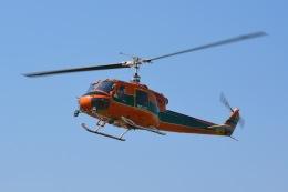あまるめさんが、東京ヘリポートで撮影したアカギヘリコプター 204B-2(FujiBell)の航空フォト(飛行機 写真・画像)