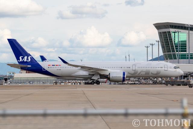 遠森一郎さんが、福岡空港で撮影したスカンジナビア航空 A350-941の航空フォト(飛行機 写真・画像)