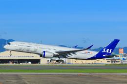 臨時特急7032Mさんが、福岡空港で撮影したスカンジナビア航空 A350-941の航空フォト(飛行機 写真・画像)
