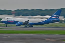 Souma2005さんが、成田国際空港で撮影したシルクウェイ・ウェスト・エアラインズ 747-83QFの航空フォト(飛行機 写真・画像)