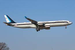 シン・マリオ先輩さんが、横田基地で撮影したタイ王国空軍 A340-541の航空フォト(飛行機 写真・画像)