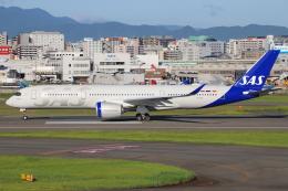 masa707さんが、福岡空港で撮影したスカンジナビア航空 A350-941の航空フォト(飛行機 写真・画像)