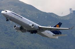 Hariboさんが、香港国際空港で撮影したルフトハンザ・カーゴ MD-11Fの航空フォト(飛行機 写真・画像)