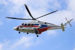 おっつんさんが、朝日航洋川越メンテナンスセンターで撮影した三井物産エアロスペース AW139の航空フォト(飛行機 写真・画像)