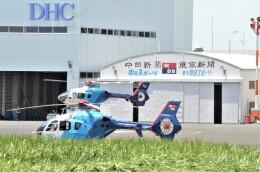 ヘリオスさんが、東京ヘリポートで撮影した中日新聞社 EC135P2の航空フォト(飛行機 写真・画像)