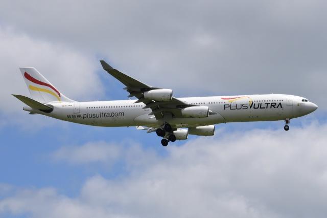 Timothyさんが、成田国際空港で撮影したプルス・ウルトラ A340-313Xの航空フォト(飛行機 写真・画像)