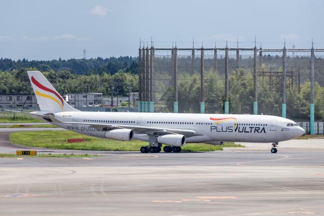Y-Kenzoさんが、成田国際空港で撮影したプルス・ウルトラ A340-313Xの航空フォト(飛行機 写真・画像)