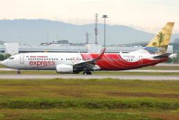 jun☆さんが、クアラルンプール国際空港で撮影したエア・インディア・エクスプレス 737-8HGの航空フォト(飛行機 写真・画像)