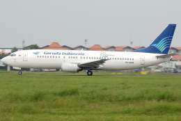 jun☆さんが、スカルノハッタ国際空港で撮影したガルーダ・インドネシア航空 737-4U3の航空フォト(飛行機 写真・画像)