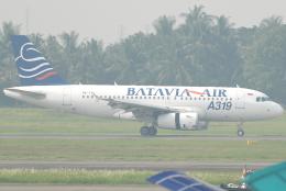 jun☆さんが、スカルノハッタ国際空港で撮影したバタビア航空 A319-132の航空フォト(飛行機 写真・画像)