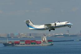 そば小猿さんが、羽田空港で撮影した海上保安庁 DHC-8-315 Dash 8の航空フォト(飛行機 写真・画像)