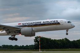 gomaさんが、ミュンヘン・フランツヨーゼフシュトラウス空港で撮影したシンガポール航空 A350-941の航空フォト(飛行機 写真・画像)
