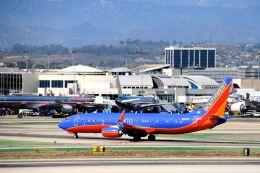 まいけるさんが、ロサンゼルス国際空港で撮影したサウスウェスト航空 737-8H4の航空フォト(飛行機 写真・画像)