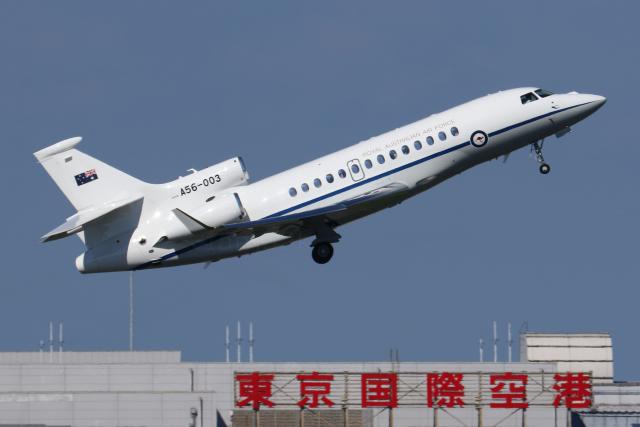 多摩川崎2Kさんが、羽田空港で撮影したオーストラリア空軍 Falcon 7Xの航空フォト(飛行機 写真・画像)
