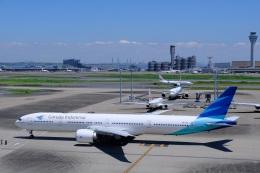そば小猿さんが、羽田空港で撮影したガルーダ・インドネシア航空 777-3U3/ERの航空フォト(飛行機 写真・画像)