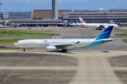 やまモンさんが、羽田空港で撮影したガルーダ・インドネシア航空 A330-343Xの航空フォト(飛行機 写真・画像)