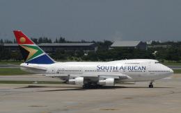 hs-tgjさんが、ドンムアン空港で撮影した南アフリカ航空 747SP-44の航空フォト(飛行機 写真・画像)