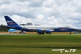 tassさんが、成田国際空港で撮影したシルクウェイ・ウェスト・エアラインズ 747-83QFの航空フォト(飛行機 写真・画像)