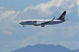 JUTENさんが、中部国際空港で撮影したスカイマーク 737-8HXの航空フォト(飛行機 写真・画像)