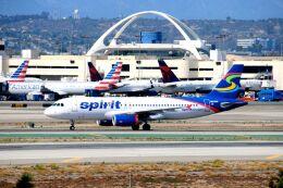 まいけるさんが、ロサンゼルス国際空港で撮影したスピリット航空 A320-232の航空フォト(飛行機 写真・画像)