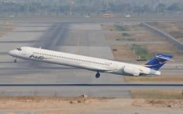 hs-tgjさんが、スワンナプーム国際空港で撮影したバンコクエアウェイズ MD-90-30の航空フォト(飛行機 写真・画像)