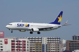 神宮寺ももさんが、福岡空港で撮影したスカイマーク 737-8ALの航空フォト(飛行機 写真・画像)