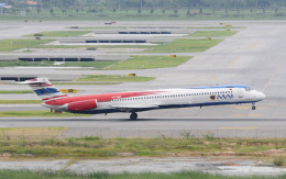 hs-tgjさんが、スワンナプーム国際空港で撮影したミャンマー国際航空 MD-82 (DC-9-82)の航空フォト(飛行機 写真・画像)