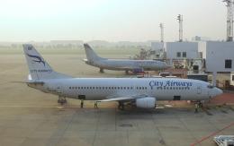 hs-tgjさんが、ドンムアン空港で撮影したシティ・エアウェイズ 737-4H6の航空フォト(飛行機 写真・画像)
