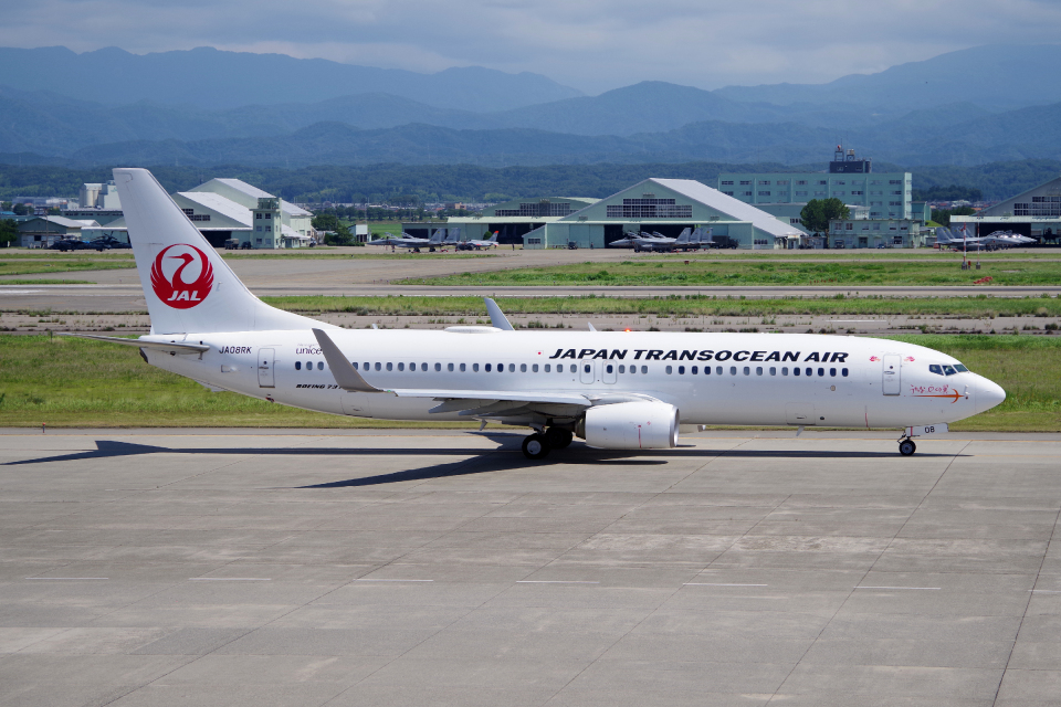 yabyanさんの日本トランスオーシャン航空 Boeing 737-800 (JA08RK) 航空フォト
