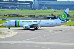 amagoさんが、アムステルダム・スキポール国際空港で撮影したトランサヴィア 737-8K2の航空フォト(飛行機 写真・画像)