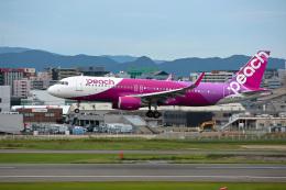 ansett747さんが、福岡空港で撮影したピーチ A320-214の航空フォト(飛行機 写真・画像)
