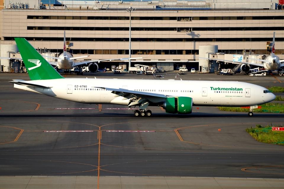 SFJ_capさんのトルクメニスタン航空 Boeing 777-200 (EZ-A780) 航空フォト