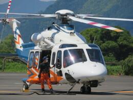 ランチパッドさんが、静岡ヘリポートで撮影した静岡県消防防災航空隊 AW139の航空フォト(飛行機 写真・画像)