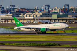 ぱん_くまさんが、羽田空港で撮影したトルクメニスタン航空 777-200/LRの航空フォト(飛行機 写真・画像)