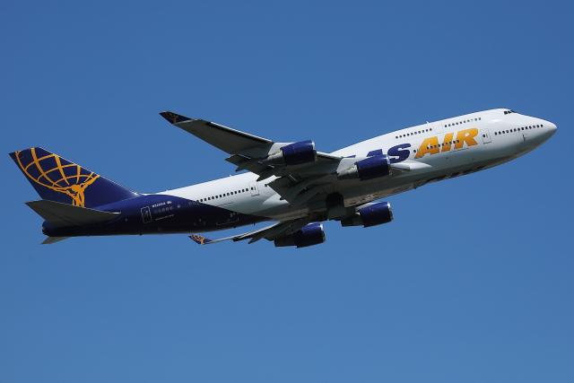 航空フォト:N322SG アトラス航空 747-400