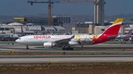 LAX Spotterさんが、ロサンゼルス国際空港で撮影したイベリア航空 A330-202の航空フォト(飛行機 写真・画像)