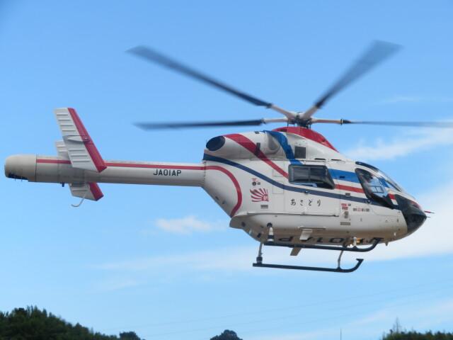 ランチパッドさんが、静岡ヘリポートで撮影した朝日新聞社 MD 900/902の航空フォト(飛行機 写真・画像)