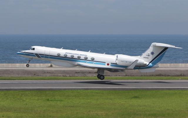 asuto_fさんが、大分空港で撮影した海上保安庁 G-V Gulfstream Vの航空フォト(飛行機 写真・画像)