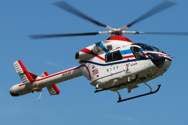ブルーさんさんが、静岡ヘリポートで撮影した朝日新聞社 MD 900/902の航空フォト(飛行機 写真・画像)