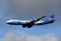 ポン太さんが、成田国際空港で撮影したシルクウェイ・ウェスト・エアラインズ 747-83QFの航空フォト(飛行機 写真・画像)