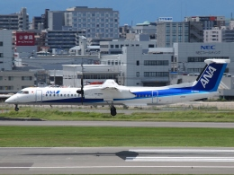 FT51ANさんが、福岡空港で撮影したANAウイングス DHC-8-402Q Dash 8の航空フォト(飛行機 写真・画像)