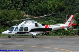 Chofu Spotter Ariaさんが、静岡ヘリポートで撮影した静岡エアコミュータ AW109SP GrandNewの航空フォト(飛行機 写真・画像)