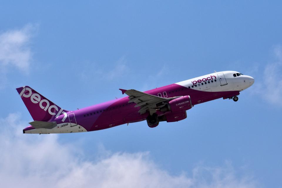 Take51さんのピーチ Airbus A320 (JA801P) 航空フォト