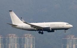 Asamaさんが、香港国際空港で撮影したケイマン諸島企業所有 737-7JB BBJの航空フォト(飛行機 写真・画像)
