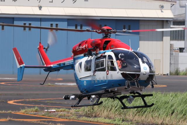 KAZFLYERさんが、東京ヘリポートで撮影した川崎市消防航空隊 BK117C-2の航空フォト(飛行機 写真・画像)